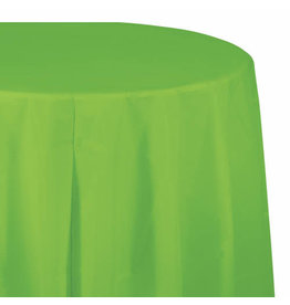 """Creative Converting Fresh Lime - Tablecover, 82"""" Rnd Plastic"""