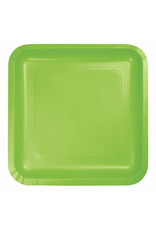 "Creative Converting Fresh Lime - Plates, 9"" Square Paper 18ct"