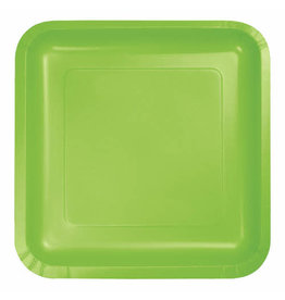 """Creative Converting Fresh Lime - Plates, 9"""" Square Paper 18ct"""