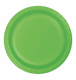 """Creative Converting Fresh Lime - Plates, 9"""" Round Paper  24ct"""