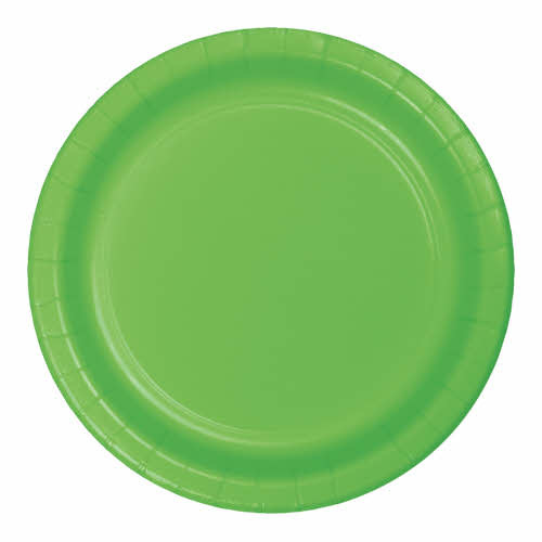 "Creative Converting Fresh Lime - Plates, 9"" Round Paper  24ct"