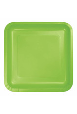 """Creative Converting Fresh Lime - Plates, 7"""" Square Paper 18ct"""