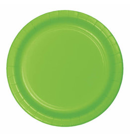 """Creative Converting Fresh Lime - Plates, 7"""" Round Paper 24ct"""