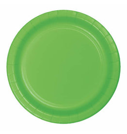 """Creative Converting Fresh Lime - Plates, 10"""" Round Paper 24ct"""