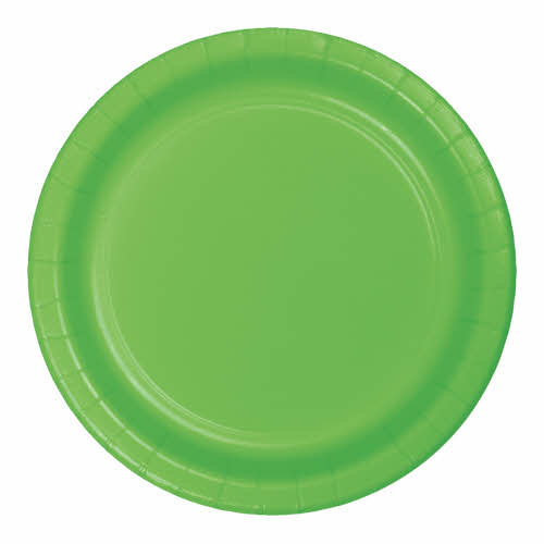 "Creative Converting Fresh Lime - Plates, 10"" Round Paper 24ct"