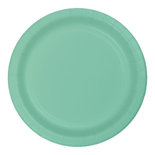"Creative Converting Fresh Mint - Plates, 7"" Round Paper"