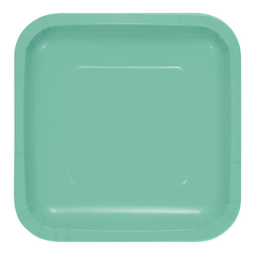 "Creative Converting Fresh Mint - Plates, 7"" Square Paper"