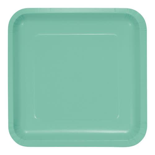 "Creative Converting Fresh Mint - Plates, 9"" Square Paper"