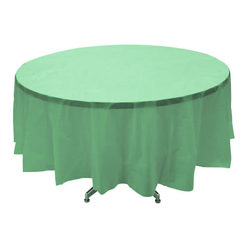 "Fresh Mint - Tablecover, 84"" Round"