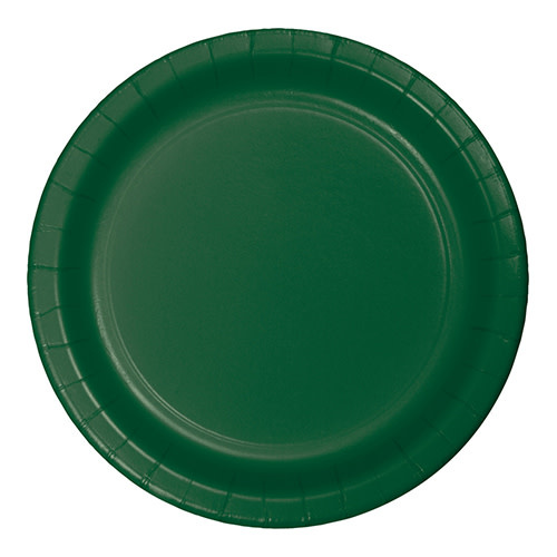 "Creative Converting Hunter Green - Plates, 10"" Round Paper 24ct"