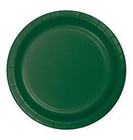 "Creative Converting Hunter Green - Plates, 7"" Round Paper 24ct"