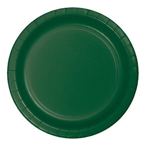 "Creative Converting Hunter Green - Plates, 7"" Round Paper 24ct"