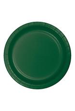 "Creative Converting Hunter Green - Plates, 9"" Round Paper 24ct"