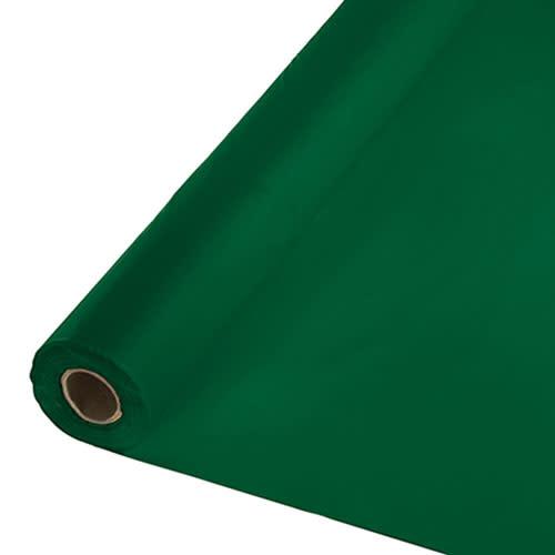 Creative Converting Hunter Green - Table Roll, 100' Plastic