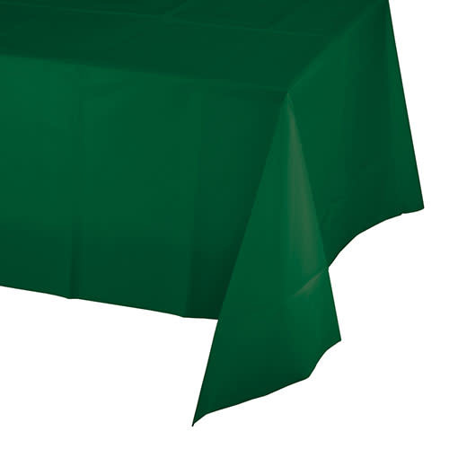 Creative Converting Hunter Green - Tablecover, 54x108 Plastic