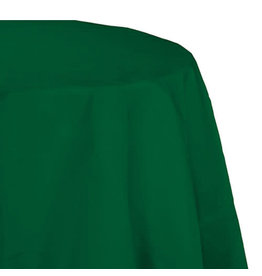 "Creative Converting Hunter Green - Tablecover, 82"" Rnd Plastic"