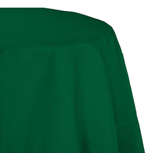 "Creative Converting Hunter Green - Tablecover, 82"" Rnd Plastic"