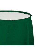 Creative Converting Hunter Green - Tableskirt, 14' Plastic
