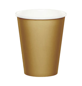 Creative Converting Glittering Gold - Cups, 9oz Paper 24ct