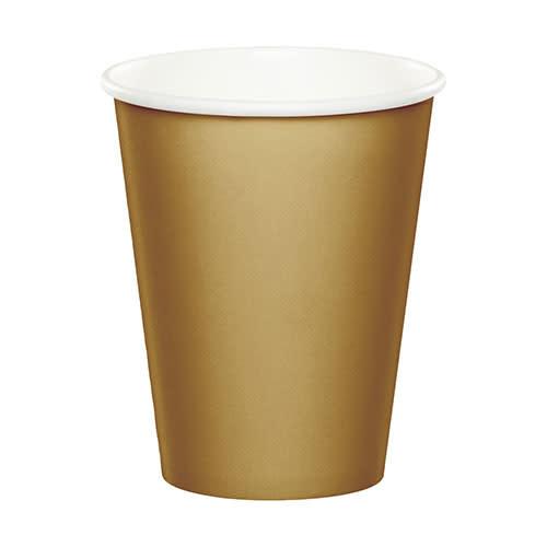 Creative Converting Glittering Gold - Cups, 9oz Paper 24ct