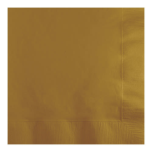 Creative Converting Glittering Gold - Napkins, Beverage 50ct