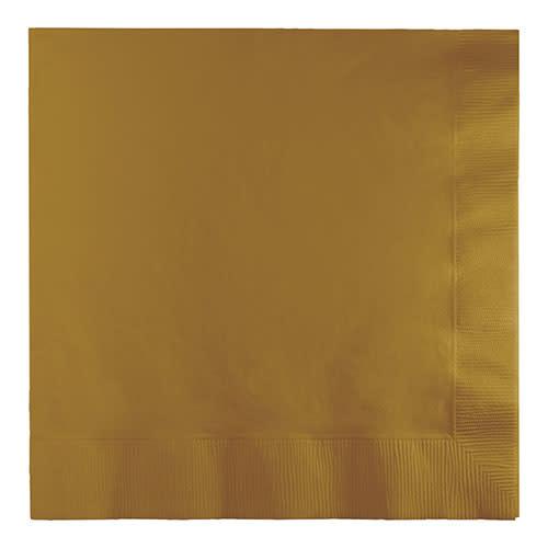 Creative Converting Glittering Gold - Napkins, Luncheon 50ct