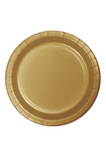 "Creative Converting Glittering Gold - Plates, 7"" Round Paper 24ct"