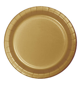 """Creative Converting Glittering Gold - Plates, 7"""" Round Paper 24ct"""
