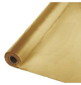 Creative Converting Glittering Gold - Table Roll, 100' Plastic