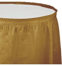 Creative Converting Glittering Gold - Tableskirt, 14' Plastic