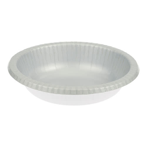 Creative Converting Shimmering Silver - Bowls, Paper 20ct