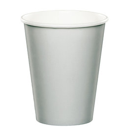 Creative Converting Shimmering Silver - Cups, 9oz Paper 24ct