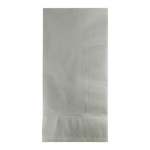 Creative Converting Shimmering Silver - Napkins, Dinner 50ct