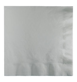 Creative Converting Shimmering Silver - Napkins, Luncheon 50ct