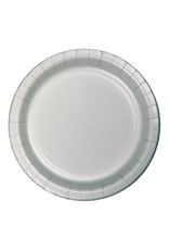 """Creative Converting Shimmering Silver - Plates, 7"""" Round 24ct"""