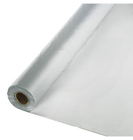 Creative Converting Shimmering Silver - Table Roll, 100' Plastic