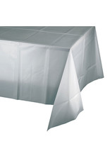 Creative Converting Shimmering Silver - Tablecover, 54x108 Plastic