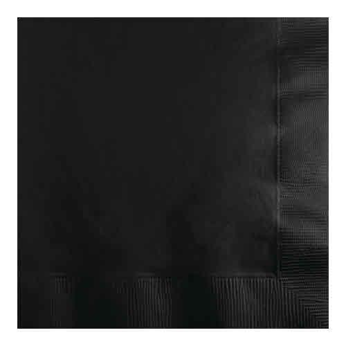 Creative Converting Black Velvet - Napkins, Beverage 50ct