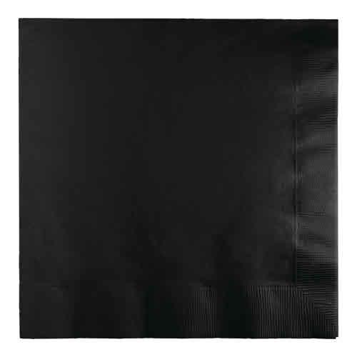 Creative Converting Black Velvet - Napkins, Luncheon 50ct