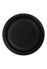 "Creative Converting Black Velvet - Plates, 10"" Round Paper 24ct"
