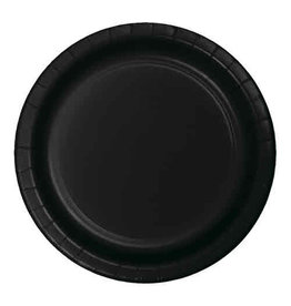"Creative Converting Black Velvet - Plates, 7"" Round Paper 24ct"