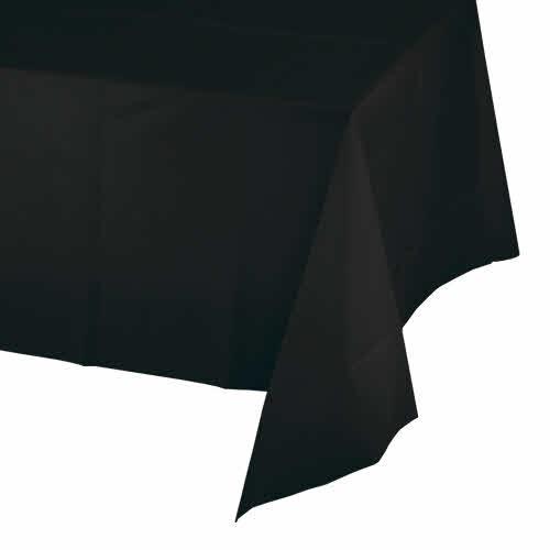 Creative Converting Black Velvet - Tablecover, 54x108 Plastic