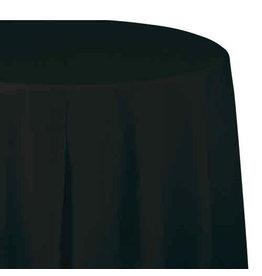 """Creative Converting Black Velvet - Tablecover, 82"""" Rnd Plastic"""
