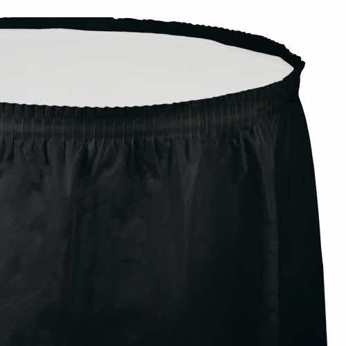 Creative Converting Black Velvet - Tableskirt, 14' Plastic