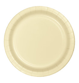 """Creative Converting Ivory - Plates, 10"""" Round Paper 24ct"""