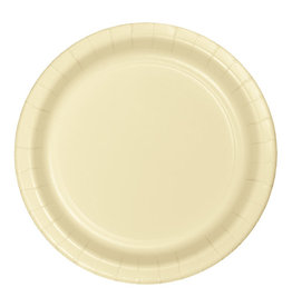 """Creative Converting Ivory - Plates, 7"""" Round Paper 24ct"""