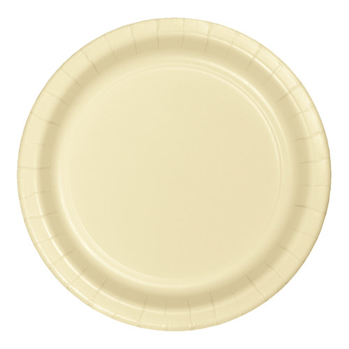 "Creative Converting Ivory - Plates, 7"" Round Paper 24ct"