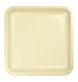 """Creative Converting Ivory - Plates, 7"""" Square Paper 18ct"""