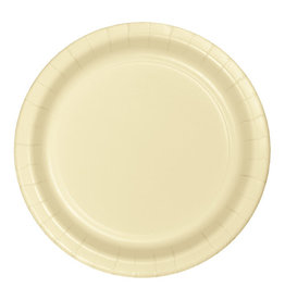 """Creative Converting Ivory - Plates, 9"""" Round Paper 24ct"""