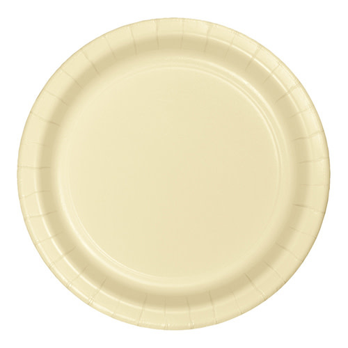 "Creative Converting Ivory - Plates, 9"" Round Paper 24ct"